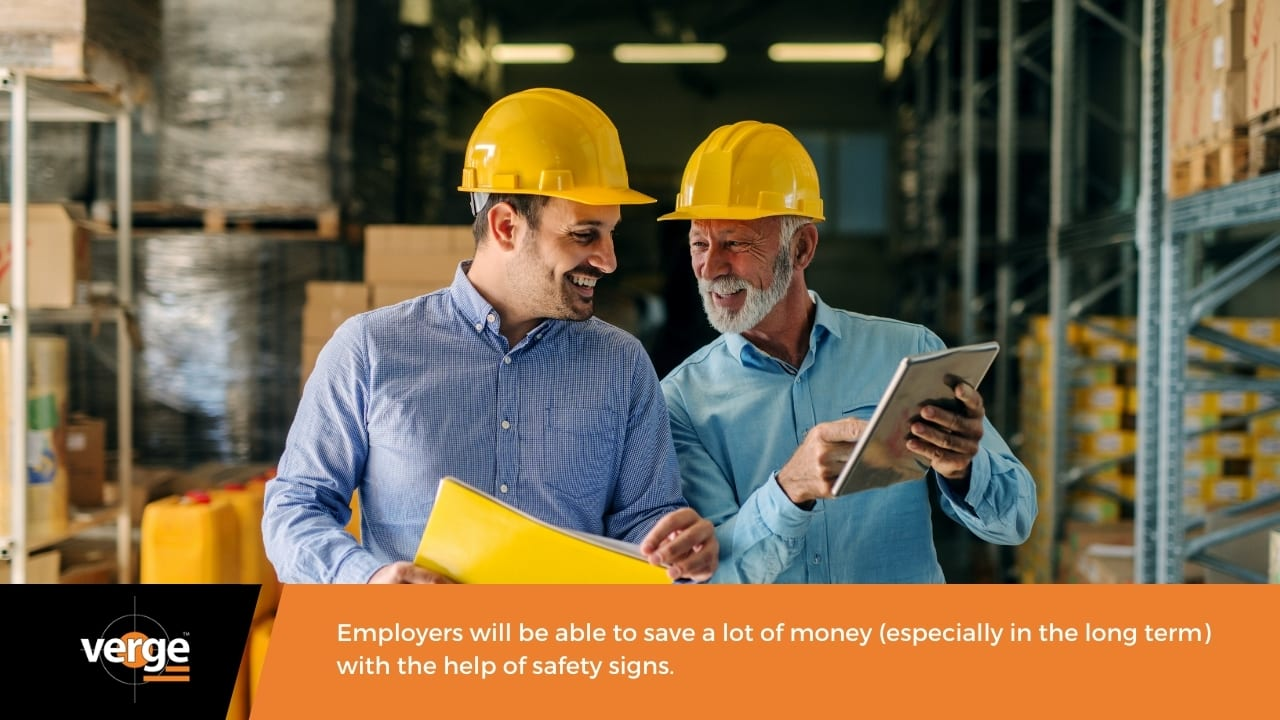 Having safety signs will lessen your workplace-related accident pay-outs.