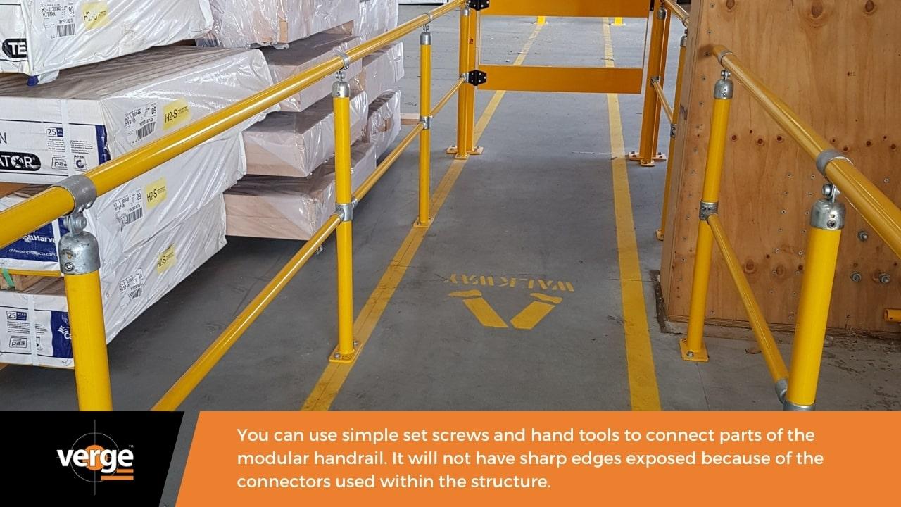 A modular handrail is safer.