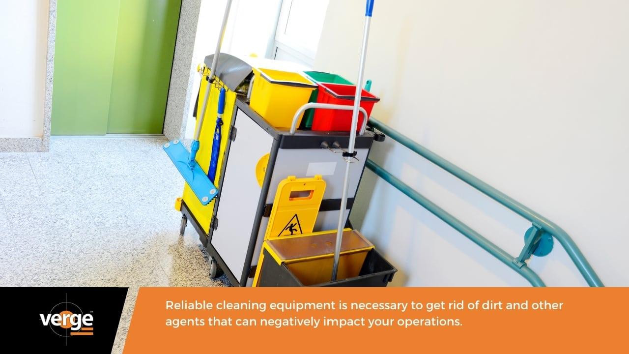 Warehouse Maintenance - Cleaning equipment