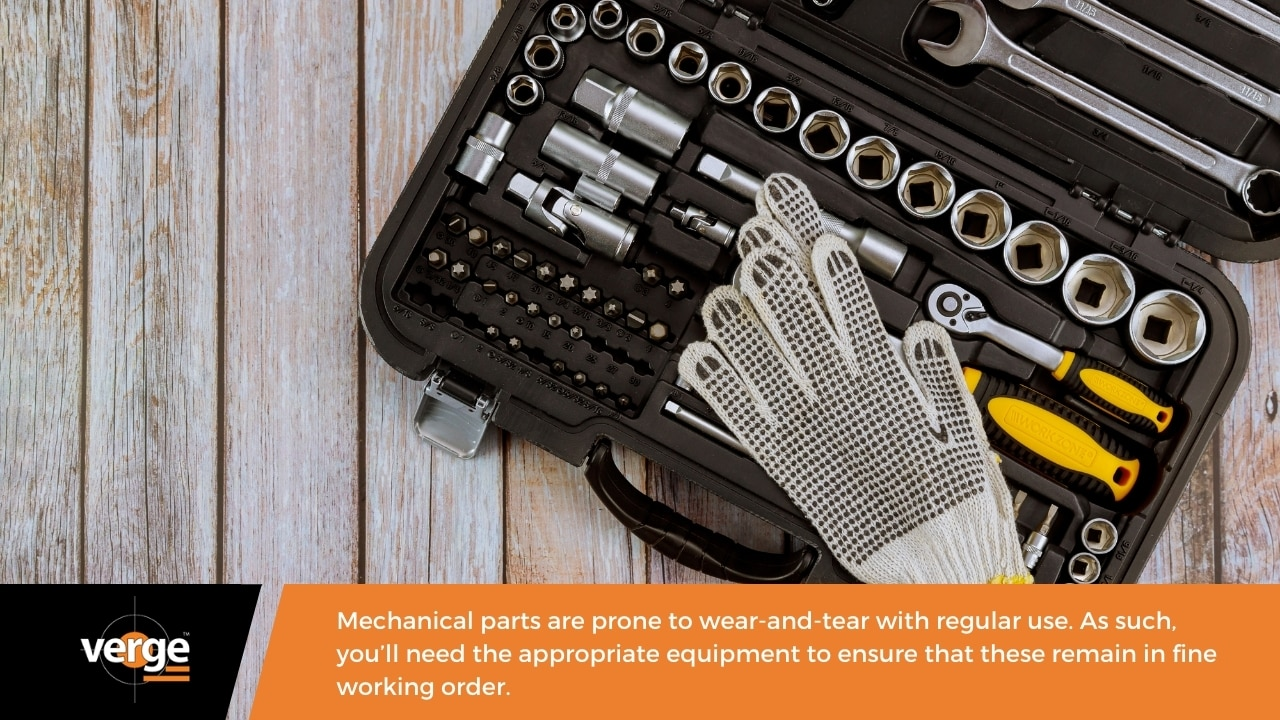 Warehouse Maintenance - Equipment for mechanical maintenance