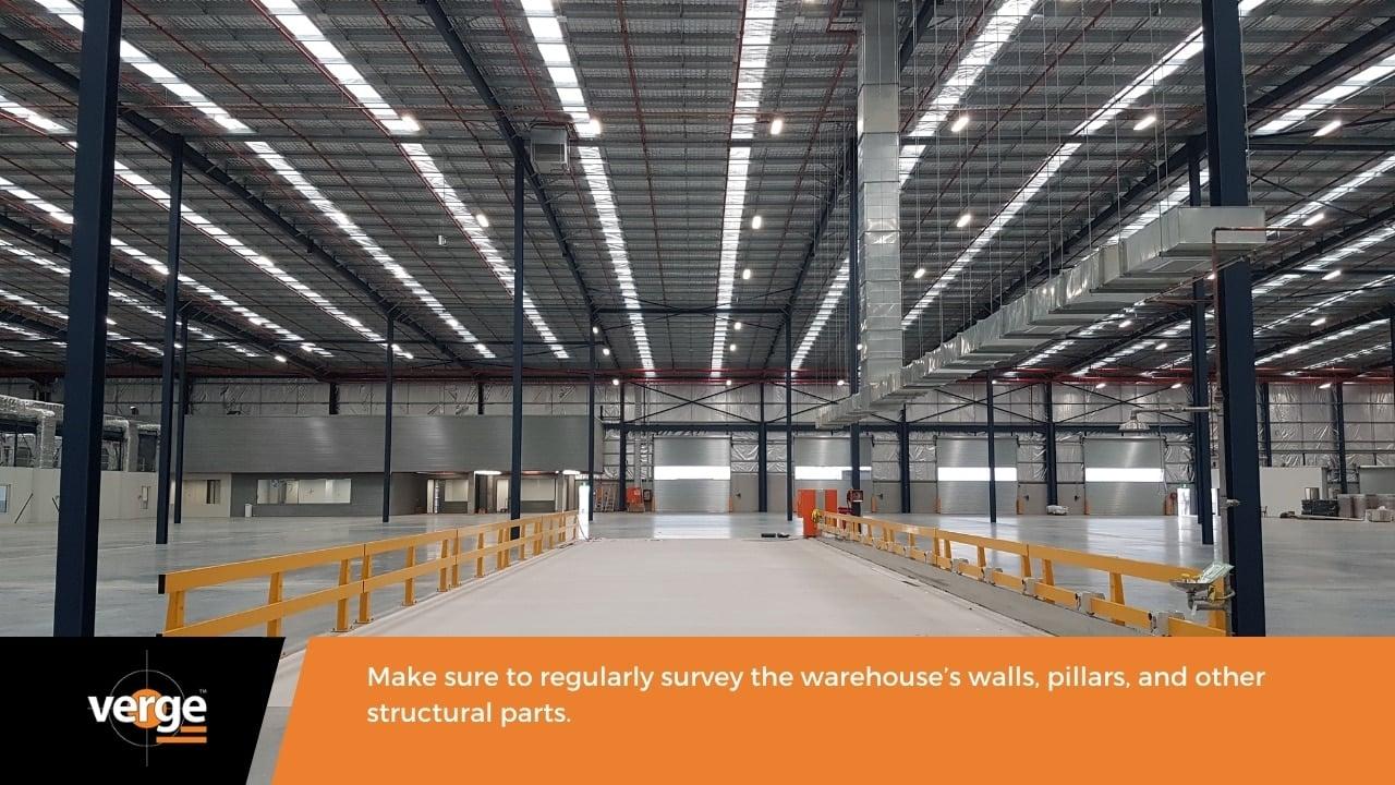 Warehouse Maintenance - Pillars, walls, and infrastructure