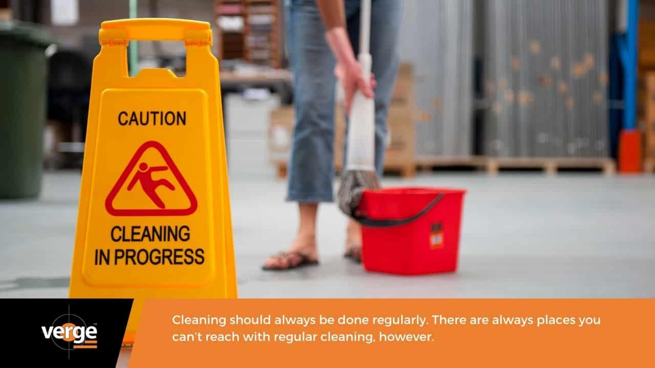 Warehouse Maintenance - Thorough cleaning