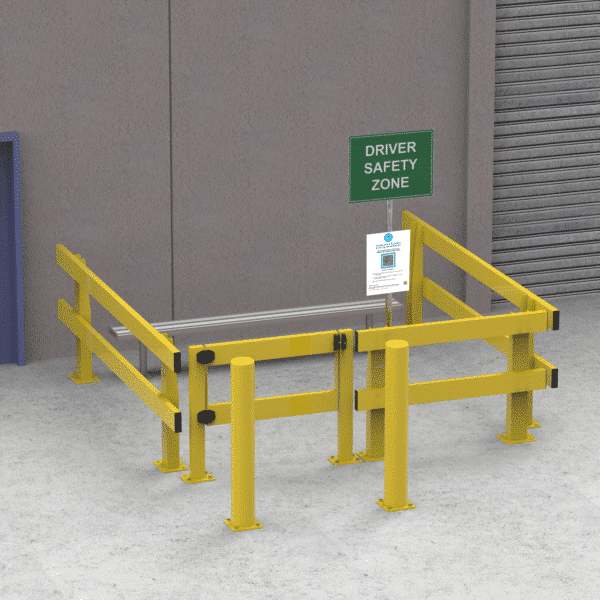 KV751 - The Driver Safety Zone Kit with HD Barriers - 3 Sided 3 x 2 Metres »