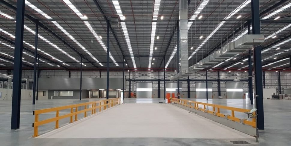 New warehouse. Taylor constructions. verge safety barrier installation