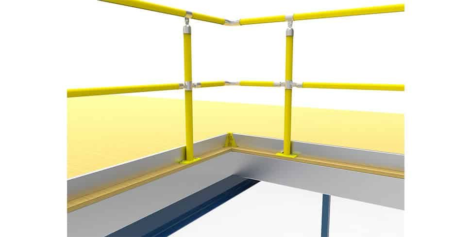 kickplate safety barrier