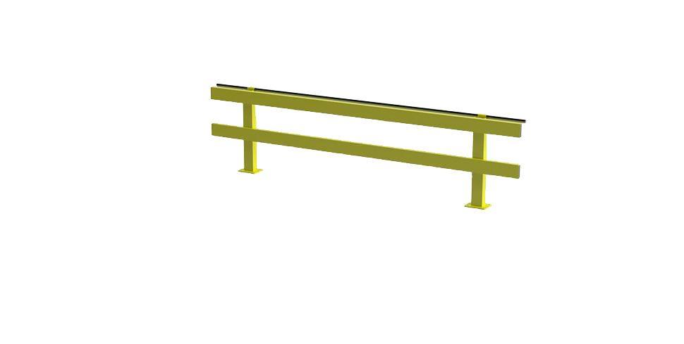 warehouse safety rail