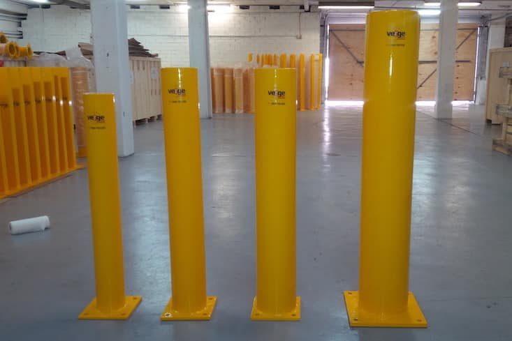 warehouse safety bollards